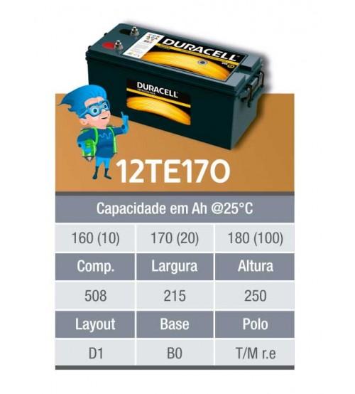BATERIA ESTACIONARIA DURACELL 12v 170ah C20 / 180ah C100 - 12TE170