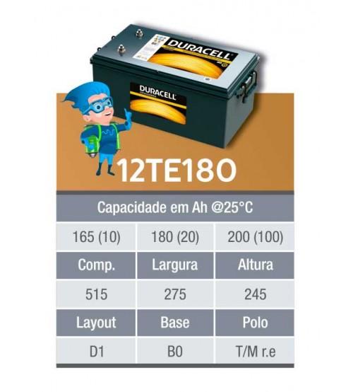 BATERIA ESTACIONARIA DURACELL 12v 180ah C20 / 200Ah C100 - 12TE180