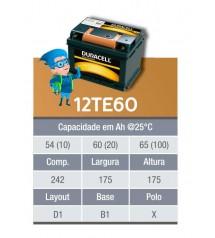 BATERIA ESTACIONARIA DURACELL 12v 60ah C20 / 65ah C100 - 12TE60
